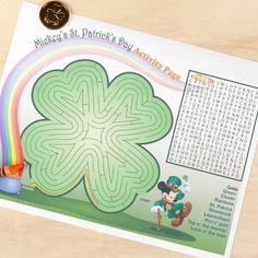 Mickey's St. Patrick's Day Printable Activity Page   Spoonful