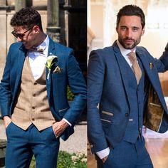 Tan Groomsmen Suits, Breast, Suit Jacket, Wedding Ideas, Jackets, Fashion, Down Jackets, Moda, Fashion Styles