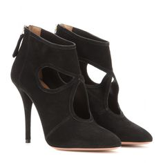 Aquazzura - Sexy Thing suede stiletto ankle boots - mytheresa.com