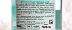 #kamzakrasou #krasa #cosmetics #beauty #garnier #new #love #sweet   Garnier Pure All In One micelárna voda - KAMzaKRÁSOU.sk