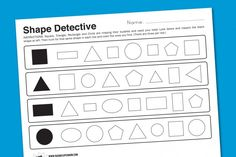 Shape Detective Kindergarten Math Worksheet #kindergarten #worksheets #shapes