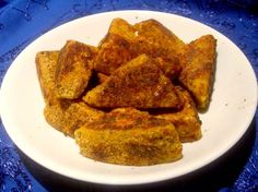 Fried tofu! Things like this are why I'm not a skinny vegetarian - I'm a chubby pescatarian who eats great food!