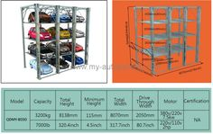 Hydraulic Multilevel Car Stacker Vertical Parking Semi Automatic Garage Car StackingSystem