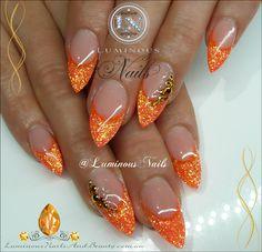 Neon Orange Nails...