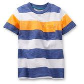 A slub jersey striped pocket tee is a must-have this season! Trendy, fun and perfect for easy style!