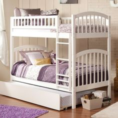Atlantic Furniture Richland Twin over Twin Bunk Bed - Bunk Beds & Loft Beds at Hayneedle