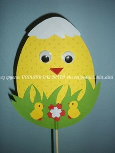 Easter Arts And Crafts, Easter Activities For Kids, Easter Crafts For Kids, Spring Crafts, Craft Stick Crafts, Preschool Crafts, Fun Crafts, Diy Ostern, Mothers Day Crafts