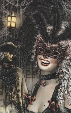 Vampire fantasy art by Victoria Frances Art Vampire, Vampire Photo, Vampire Love, Female Vampire, Vampire Bride, Vampire Pics, Masquerade Vampire, Masquerade Ball, Masquerade Tattoo