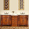 Silkroad Exclusive 84-inch Double Sink Cabinet Bathroom Vanity | Overstock.com