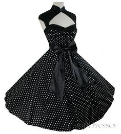 Rockabilly Retro Dress New Polka Dot 50s Vintage by pinupdresses