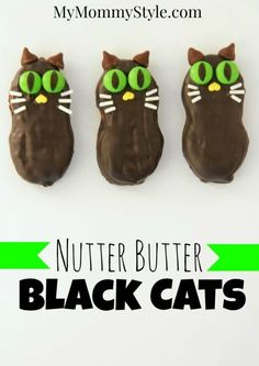 nutter butter black cats, halloween cookies, halloween party ideas, halloween, no bake dessert, mymommystyle.com
