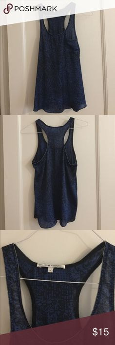 Creative Concepts flowy racerback Blue and black with silver lined details. creative concepts Tops Tank Tops