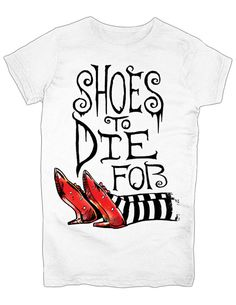 NEW NWT Wizard Of Oz Shoes To Die For Ruby Slippers Graphic T-Shirt 2X