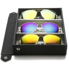 bcbb5b7c0e Limited Edition Full Metal Aviator Sunglasses W  Revo Lenses Travel Case  1486 from zeroUV Eyewear