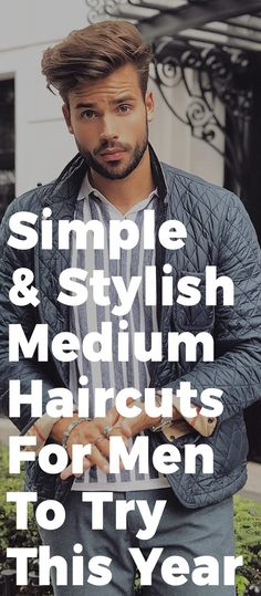 15 Trendy Medium Haircuts For Men In 2019 Stylish Mens Haircuts, Cool Hairstyles For Men, Haircuts For Men, Men's Hairstyles, Medium Long Hair, Medium Hair Cuts, Medium Hair Styles, Mens Fashion Blog, Men's Fashion
