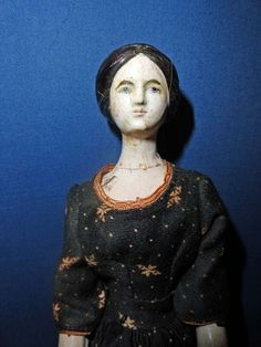 Very Early All Wood Doll Peg jointed