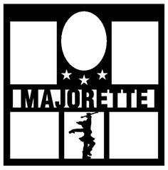 Beyond Scrapbooks - Majorette Overlay : Scrappin Sports Stuff