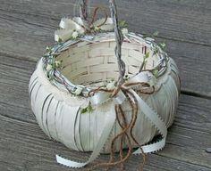 For flower girl. White pumpkin.