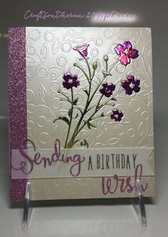 Memory Box, Alcohol Inks, Birthday Card