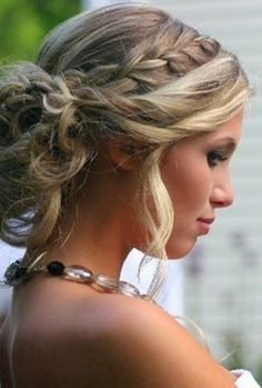perfect - braided - Updo - hairstyles for prom - curly hair