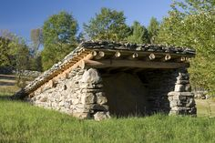 Why Earth Shelters are the Future of the Outdoors - Way Outdoors Masonry Work, Stone Masonry, Cabana, Porches, Outdoor Shelters, Dan Snow, Snow Photography, Dry Stone, House On The Rock