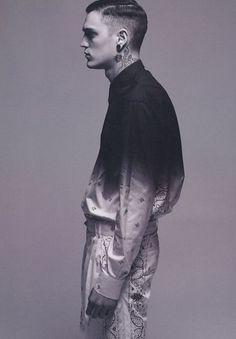 black & white textile    ombré & paisley