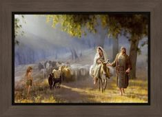 LDS Art - Christmas & Nativity — Altus Fine Art Pictures Of Christ, Temple Pictures, Family Pictures, Journey To Bethlehem, Canvas Frame, Canvas Art, Son Of David, Kings Of Israel, Lds Art