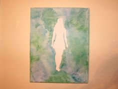 $25 - With St. Patrick's Day just around the corner consider giving this one-of-a-kind Irish Dancer melted crayon art as a special gift! - Click Above for Details! Irish Dancer Art, Melted Crayon Art, Blue and Green by LittleBettsBoutique