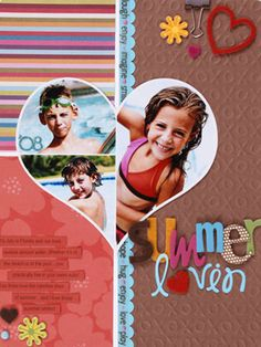 Balance Shaped Collages with a Grid Background - template on Scrapbooks Etc.