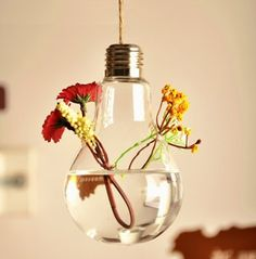 Light Bulb Glass Hanging Planter Container Vase Pot Home Wedding Decoration Wall