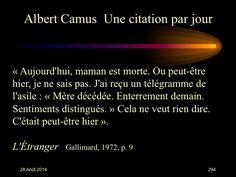 Albert Camus (1913-1960) n° 294