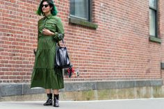 Tyler Joe is back out there snapping standout moments in #nyfw street style.