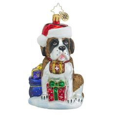 Christopher Radko Gentle Giant St Bernard Dog Ornament for Sale - Free USA Shipping