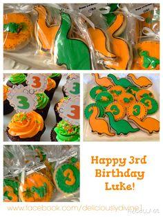 Dinasour cookies and cupcakes