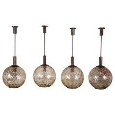 Four Italian Murano Light Pendants Attributed to Carlo Scarpa for Venini  | 1stdibs.com