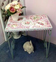 Chippy Green Metal Mosaic Table by hillspeak, via Flickr