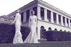Innai Red 2015 Bridal Collection - The Wedding Notebook magazine Muslimah Wedding Dress, Modest Wedding Gowns, 2015 Wedding Dresses, Innai Red, Bridal Collection, Dress Collection, Baju Kurung Lace, Malay Wedding Dress, Wedding Dressses