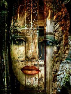 'Behind the closed door' von Gabi Hampe bei artflakes.com als Poster oder Kunstdruck $23.56