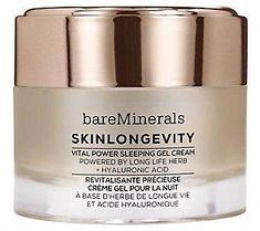 bareMinerals Skinlongevity Vital Power SleepingGel Cream #NaturalBodyScrub Clean Beauty, Diy Beauty, Beauty Hacks, Bare Minerals, Natural Body Scrub, Acne Remedies, Diy For Teens, Bath And Body, Creme