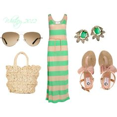 perfect for hot summer days....simple summer style