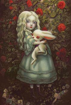 Benjamin Lacombe sublime la beauté étrange d'Alice au pays des merveilles - Sortir - Télérama.fr: