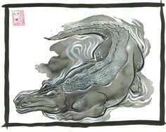 Wani- Japanese myth: a sea monster that resembled a crocodilian dragon.