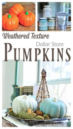 How to Get a Weathered Texture Finish with Fusion Fresco - These Dollar Store Pumpkins get a rustic home makeover with Fusion Fresco. See the step-by-step. Home Decor Colors, Fall Home Decor, Colorful Decor, Diy Home Decor, Living Room Decor On A Budget, Rooms Home Decor, Vintage Fall Decor, Mineral Paint, Painted Pumpkins