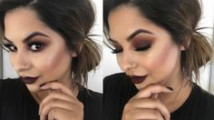Burgundy Smokey Eyes & Bold Lips | Fall Makeup
