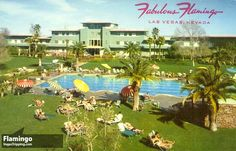Vintage chrome postcard showing the Fabulous Flamingo Hotel Las Vegas, Nevada Pool Side. Mirro-Krome card by H. Card is unused. Condition is excellent. Las Vegas Hotels, Las Vegas Nevada, Old Vegas, Vegas 2, Flamingo Hotel, Vintage Hotels, Vintage Travel, Hotel Pool, Traveling By Yourself