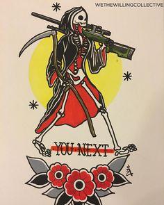 One shot One kill  No luck  All skill  #artoftheday #tattooart #tattoo #sniper #military #veterans #usmc #art #army #tattoo #artwork