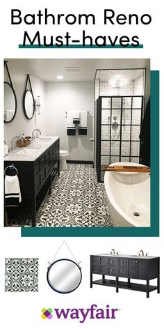 Bathroom decor for your bathroom remodel. Discover bathroom organization, bathroom decor ideas, bathroom tile ideas, bathroom paint colors, and more. Bathroom Renos, Bathroom Fixtures, Bathroom Interior, Master Bathrooms, Bathroom Ideas, Bathroom Mirrors, Small Bathrooms, Bathroom Cabinets, Bathroom Renovations