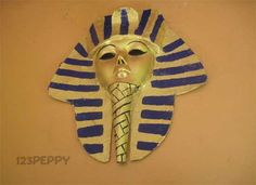 How to make an Egyptian Mask - Mask Crafts - Crafts for kids.made it,came out awesome Ancient Egypt Activities, Ancient Egypt Crafts, Egyptian Crafts, Ancient Egypt Art For Kids, History Activities, Egyptian Mask, Egyptian Party, King Tut Mask, Kids Crafts