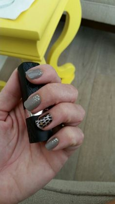 Jamberry nail art manicure pedicure designs- urban lights, gilded leopard