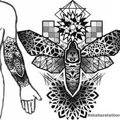 Geometric Tattoo Stencil, Geometric Tattoo Design, Mandala Tattoo Design, Tattoo Stencils, Tattoo Designs, Ma Tattoo, Arm Band Tattoo, Flower Cover Up Tattoos, Celtic Dragon Tattoos